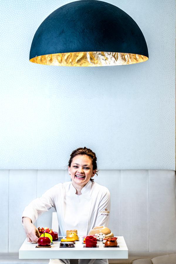 Retrato de Ana Lucía Jarquín en La Pastisseria Barcelona